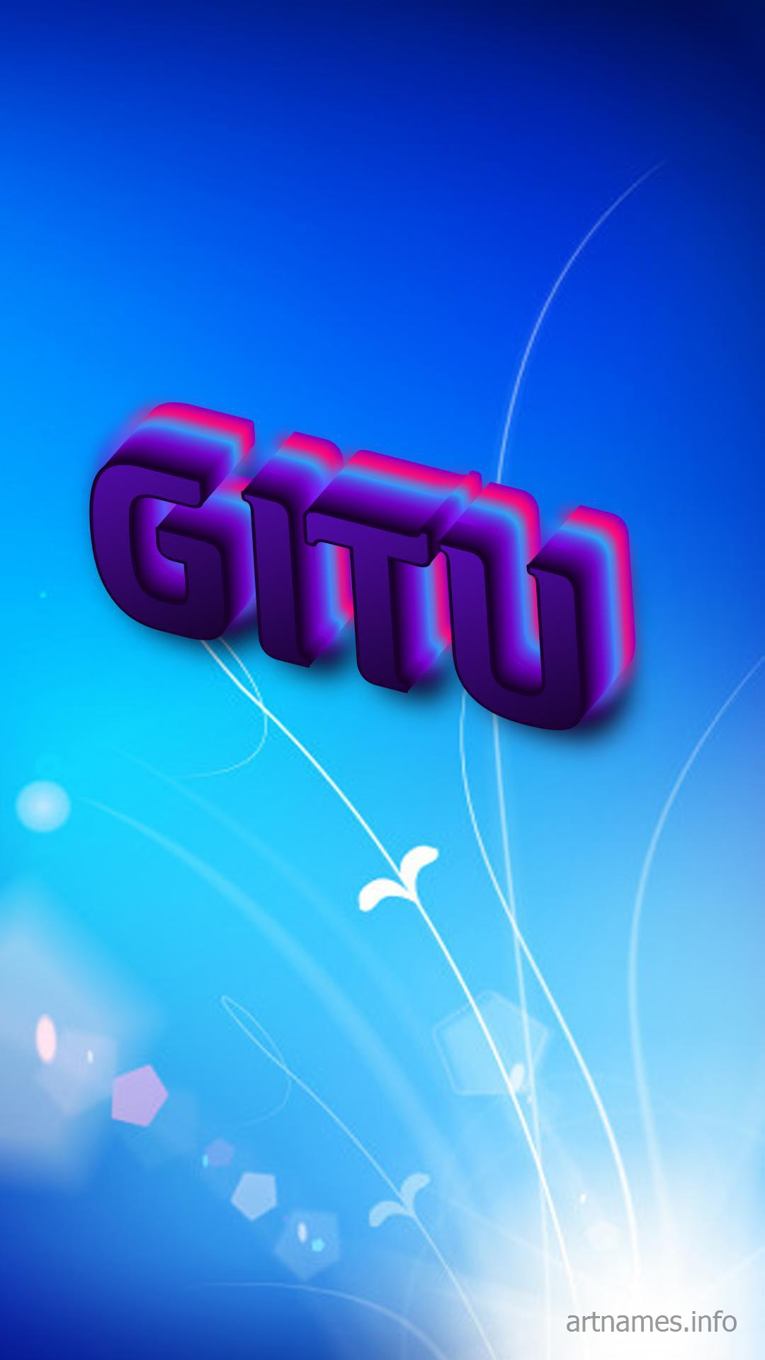 Gitu As A Art Name Wallpaper Artnames